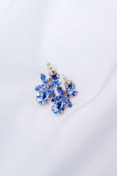 Mini Dione Earring Light Sapphire Gold