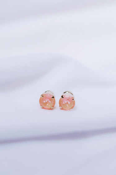 Classic Stud Earring Peach Delite Gold