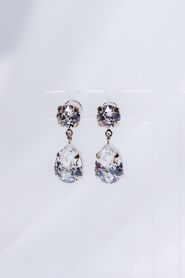 Mini Drop Earring Crystal Gold