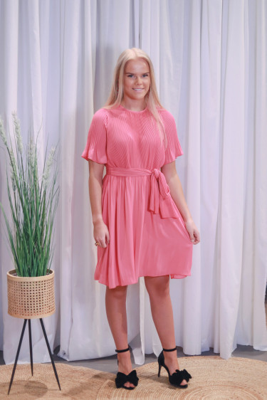 Miami dress w/ short sleeves Poppy Pink