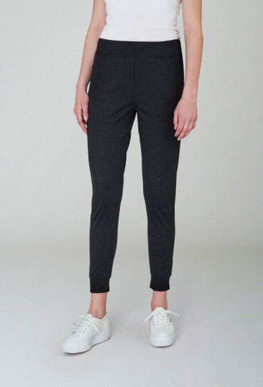Miley 401 Twinkle Black Stripe Pants
