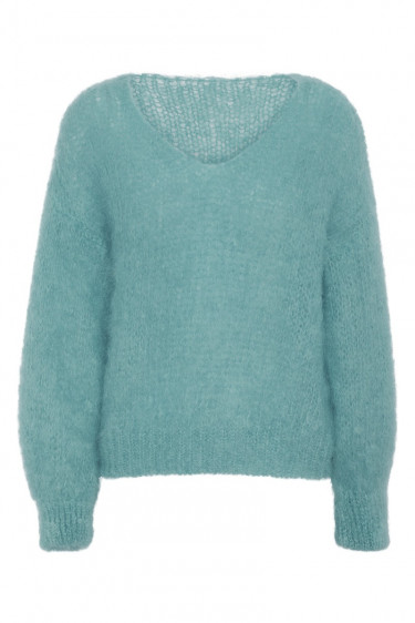 Milana Mohair Knit Turquoise