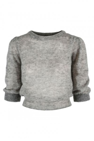 Cecile Top Lt Grey Melange