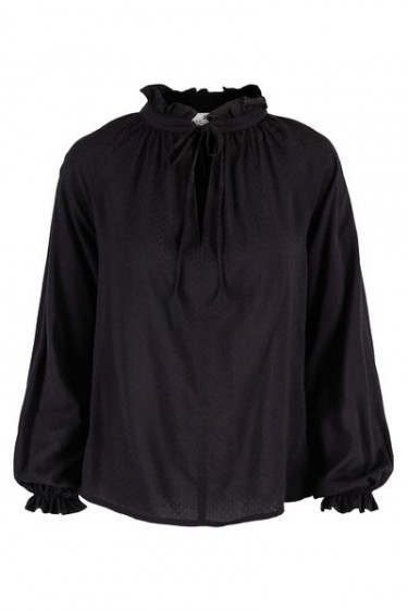 Gaia Blouse Solid Black