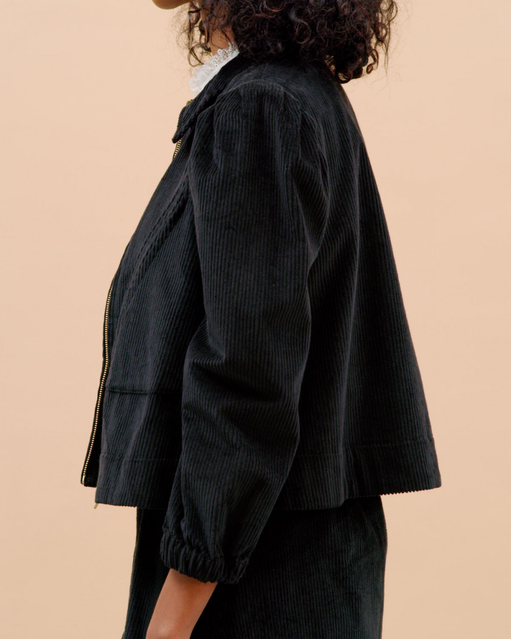 Black CORDUROY JACKET | BY TIMO | Lette jakker | Miinto.no