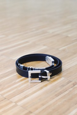 Mini Rattle Belt Black Silver