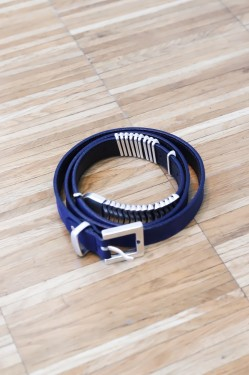 Mini Rattle Belt Midnight Navy Silver
