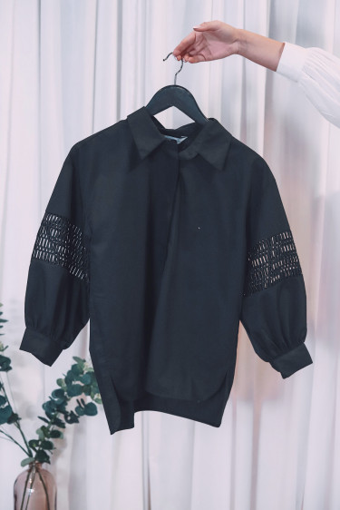 Puff Shirt Black