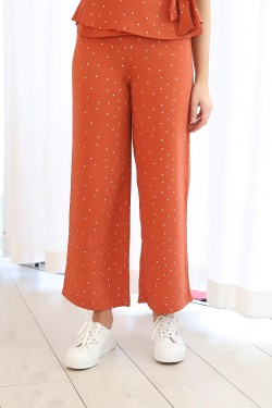 FANCY Trousers Terracotta Dots