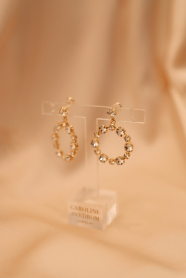 CALANTHE EARRING GOLD CRYSTAL