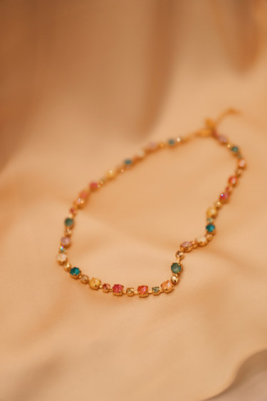 Calanthe Necklace Gold Pretty Flower Combo