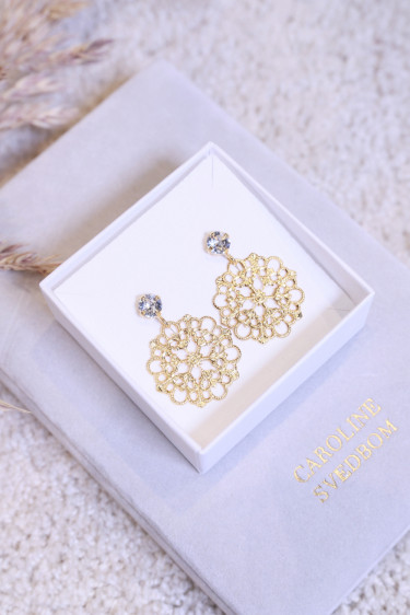 ANDREA EARRING CRYSTAL GOLD