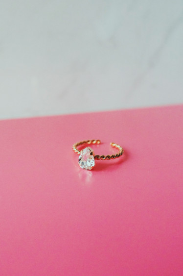 Niki Ring Crystal Gold