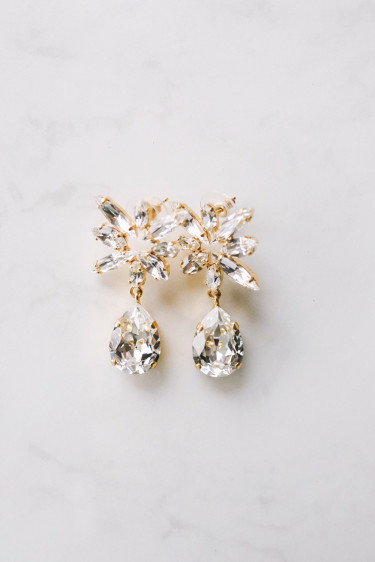 Bang Earring Crystal Gold