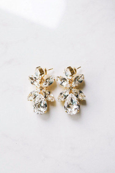 Dione Earring Crystal Gold