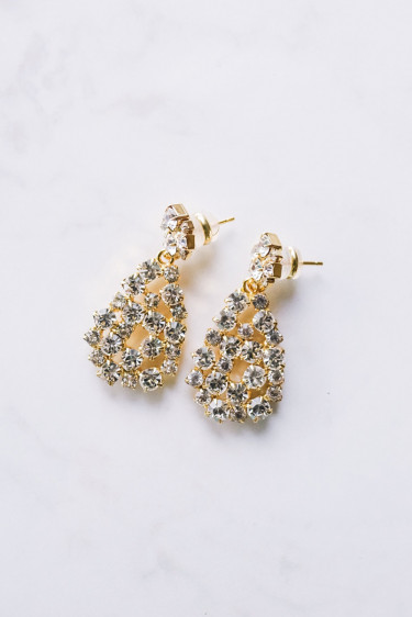 Mini Hanna Earring Crystal Gold