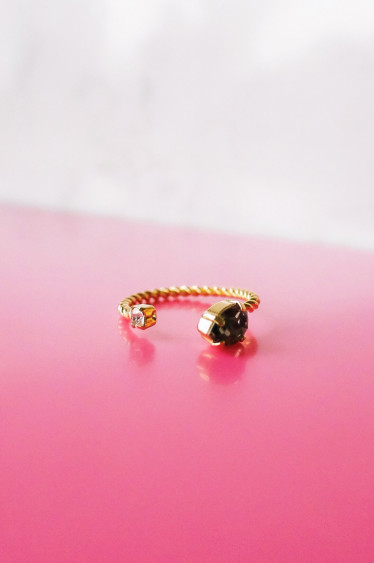 Nani Ring Black Diamond Gold