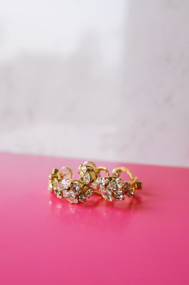 Stella Loop Earring Crystal Gold