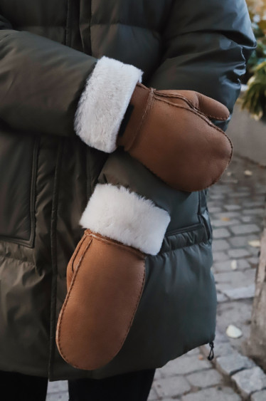 Miss Shearling Suede Chestnut