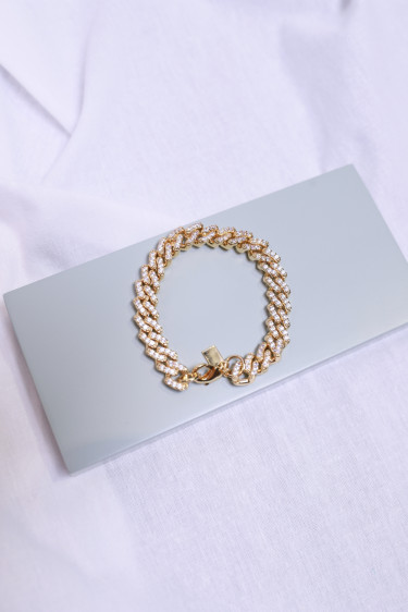 Mexican chain bracelet, clear