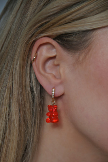 Nostalgia Bear Hoops Jelly Red
