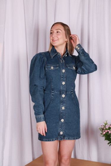 Larin Dress Dark Denim