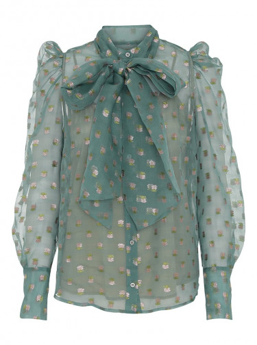Zofja By NBS Blouse Chalk Green