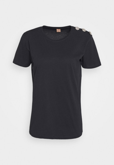 Molly Crystal Tops Anthracite Black