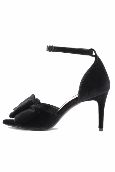 Marita Velvet Shoes Anthracite Black