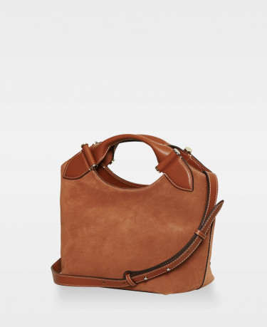 Minna Small Tote Suede Rust Red