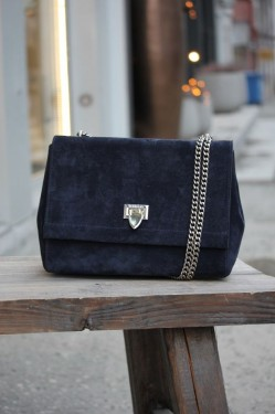 Eira Medium Bag Suede Navy