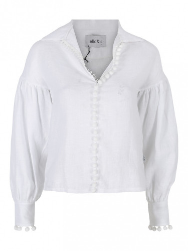 Taj Linen Shirt White