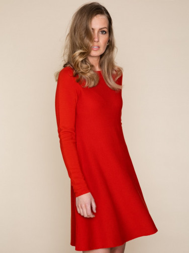 Cecilie Merino Dress Red
