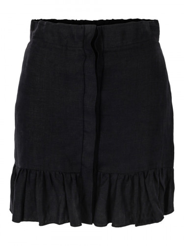 Hana Linen Skirt Black