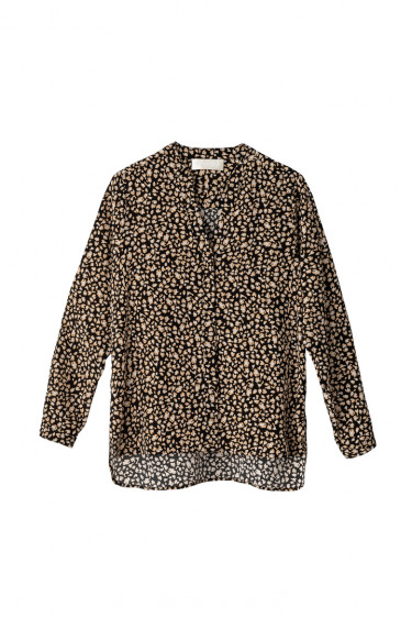 Bente Blouse Black Mini Leopard