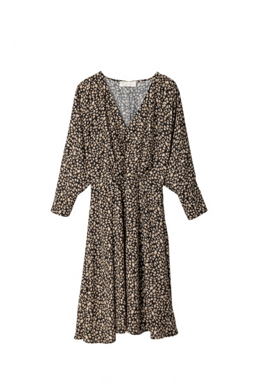 Una 2 Dress Black Mini Leopard