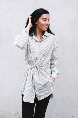 Sophie Shirt Green Stripe