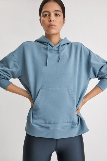 Hooded Sweatshirt Misty Blue