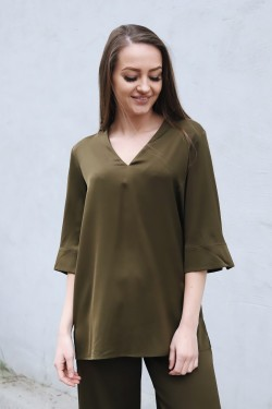Silk Tunic Hike Green