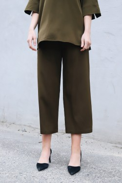Silk Trouser Hike Green