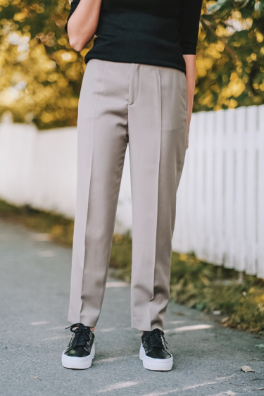 Karlie Trouser Grey Taupe