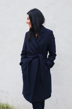 Eden Coat Navy