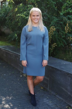 Meghan Dress Blue Grey