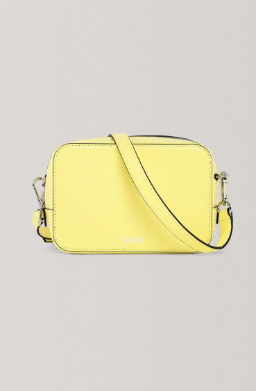 Textured Leather purse lemon