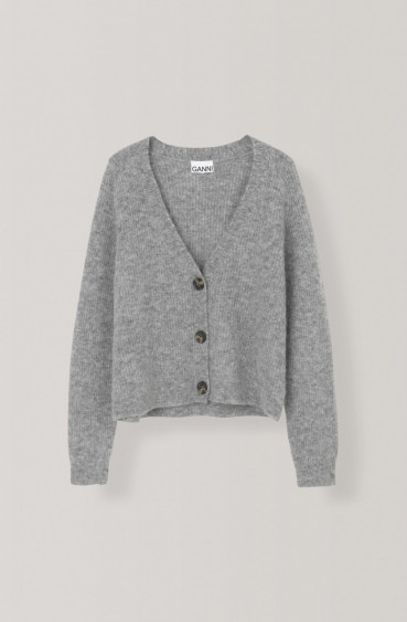 Soft Wool Knit Cardigan Paloma Melange