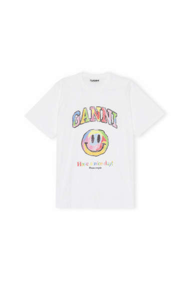 HAVE A NICE DAY SMILEY T-SHIRT RAINBOW