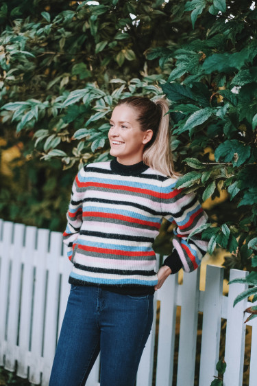 Soft Wool Knit Sweater Multicolour