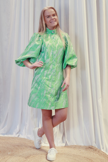 Jacquard Dress Island Green