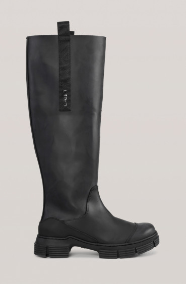 RECYCLED RUBBER BOOTS BLACK