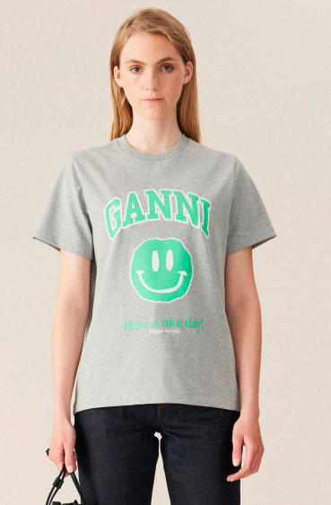 Basic Cotton Jersey Smiley Paloma Melange